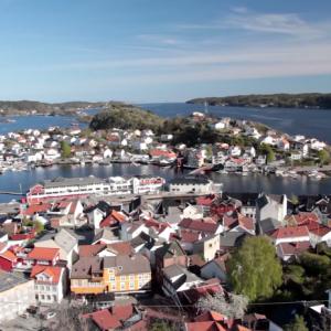Infoskjerm versjon av informasjonsfilmen om Kragerø Fjordbåtselskap